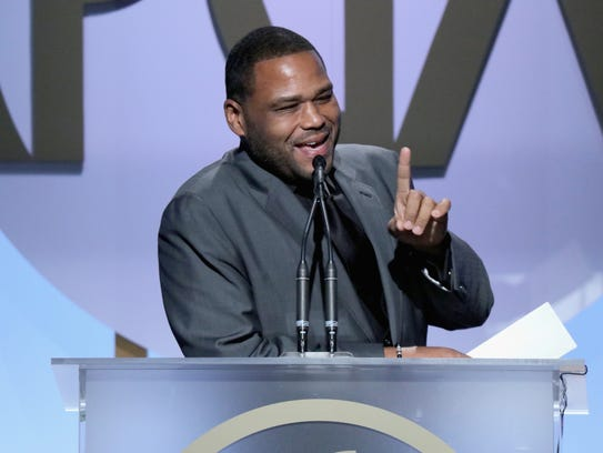 Actor Anthony Anderson speaks at the 27th annual Producers