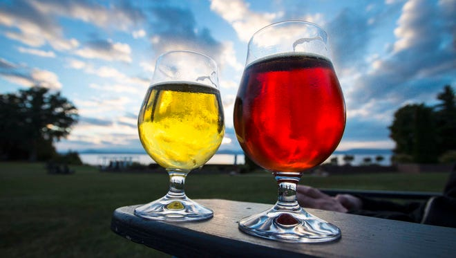 Beers with a view at Shelburne Farms in Shelburne on Tuesday, October 4, 2016.