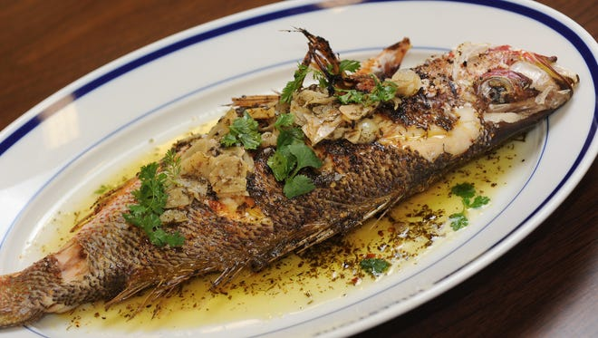Fire-roasted snapper with a orange blossom vinaigrette, shaved fennel and garlic is among the wide variety of dishes that will be offered at Seafood R'evolution in Ridgeland.