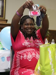 YoLanda Mention at her baby shower.