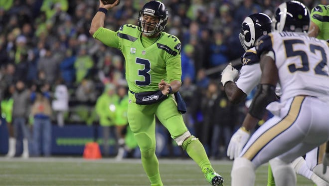 Quarterback Russell Wilson and the Seahawks have four prime-time games on their 2017 schedule.