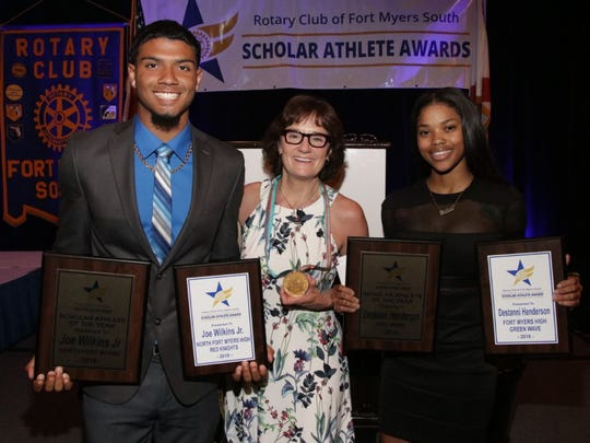 The Scholar-Athlete Awards is another major projects for Rotary Club of Fort Myers South. Approximately $20,000 in scholarships are handed out to Lee Countyathletes.