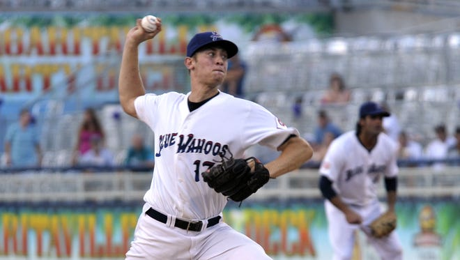 Drew Hayes, one of the original members of the Blue Wahoos team, was called up to the Cincinnati Reds on Wednesday.