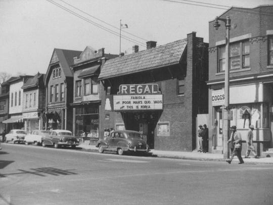 """The Regal Theater on Walnut St., pictured in 1950, hosts an annual local talent competition in First Stage's """"Welcome to Bronzeville."""""""