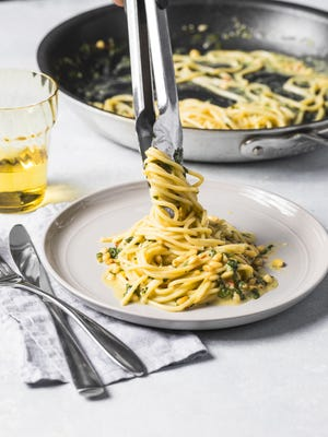 """Lemony Spaghetti is a one pan recipe from America's Test Kitchen's newest cookbook, """"Cooking for One."""""""