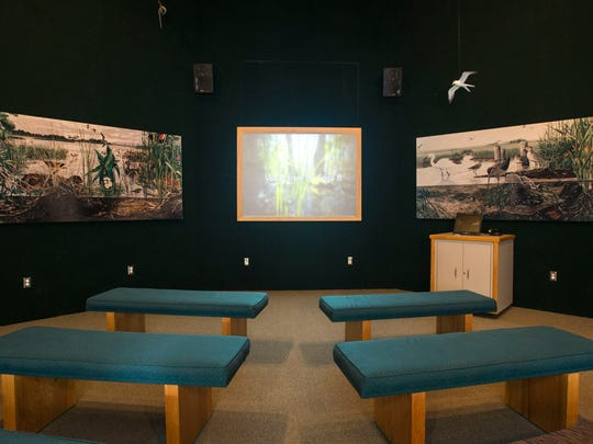 A four-part documentary on the history of the Chesapeake Bay from local writer Tom Horton and photographer David Harp plays in the theater room. The theater also features interactive exhibits for children, including a puppet show and games.