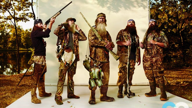 'Duck Dynasty' dudes include Jep, left, Willie, Phil, Uncle Si and Jase Robertson.