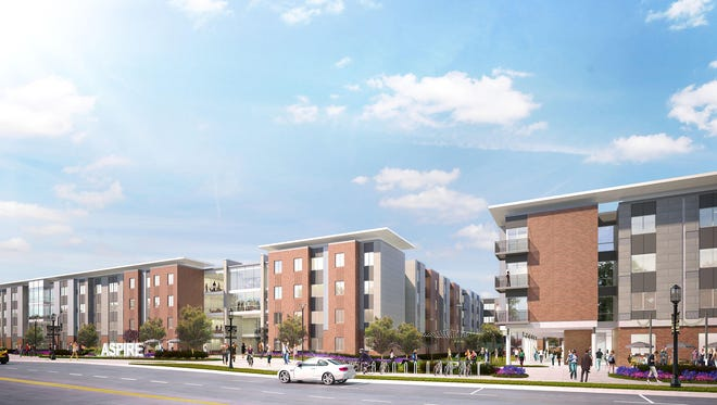 Work is expected to start in January 2018 on Aspire at Discovery Park, an $86 million, 835-bed apartment complex along State Street, on the former site of some of Purdue's Married Student Housing units.