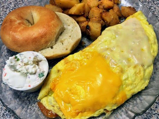 Omelet breakfast from Scott's Generations Deli in Phoenix.