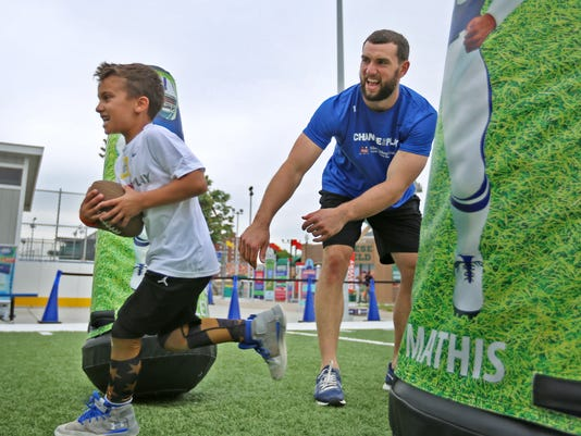 The Hot Wheels exhibit and the Sports Legends Experience with Andrew Luck and Butler Basketball players make for a busy Friday at the Children's Museum of Indianapolis.