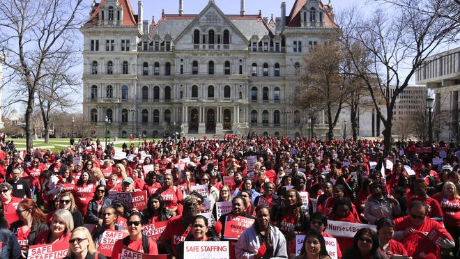 Nurses from around the state have rallied in recent years outside the state Capitol in Albany.