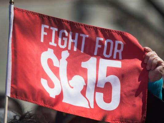 Low-Wage Workers Strike And Rally For $15 Wage In Chicago