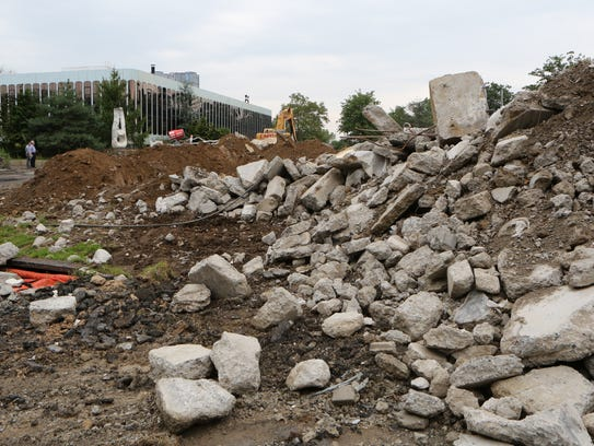 Work continues on demolition for the site of the planned