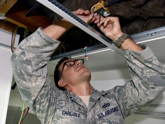 Tech. Sgt. Robby Carlisle, electrician with the 380th