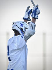 St. Xavier's Duke Alf celebrates a Bomber goal against