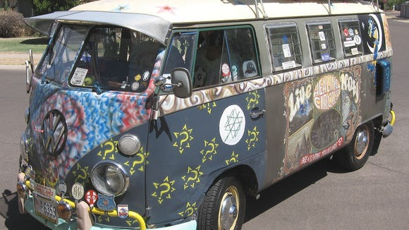 The genuine hippie bus, a 1967 VW minibus owned by