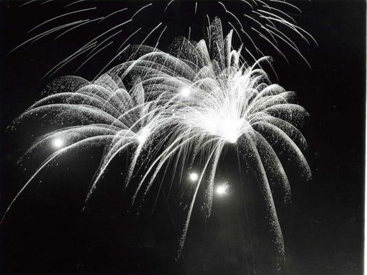 Fourth of July fireworks 1971 NJ