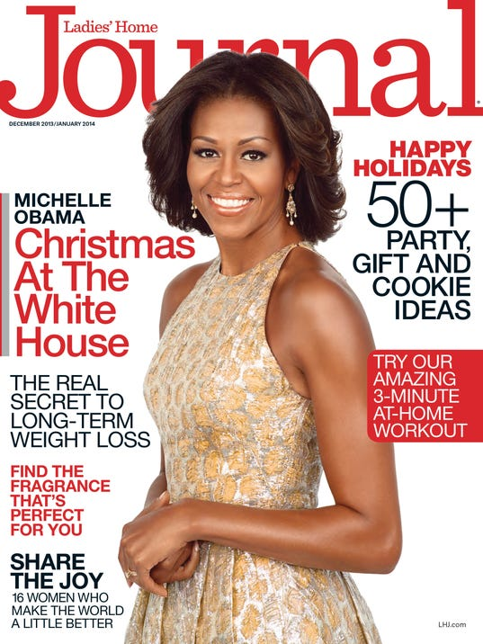 First lady Michelle Obama on cover LHJ