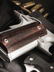 A file photo of a handgun.