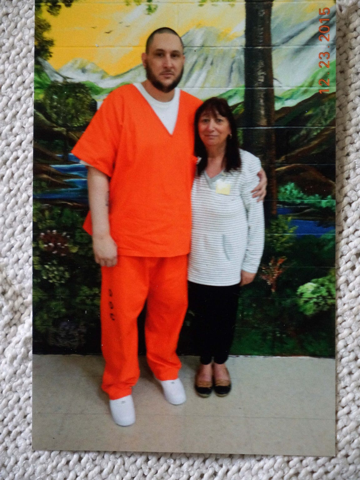Debbie Szubielsk and her 40-year-old son Gerard Szubielski are shown. He is incarcerated at the James T. Vaughn Correctional Center.