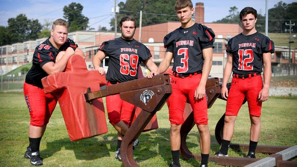 Returning starters for Pisgah from left: senior Ashton
