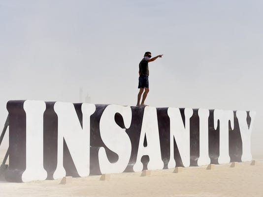 Dusty Friday at Burning Man