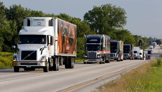 A proposal in the Legislature would assess a fee on heavy trucks to help pay for  Wisconsin roads.
