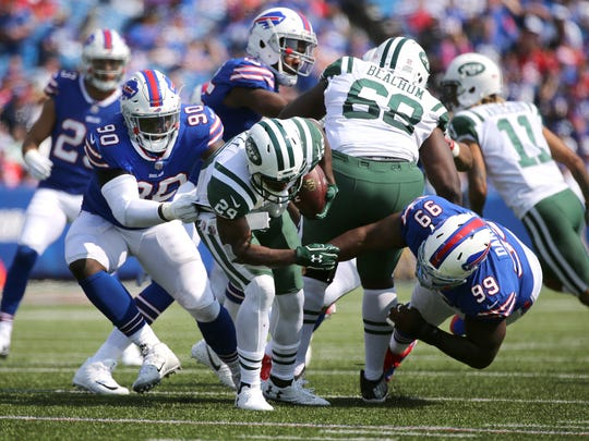 It was a very quiet day for Bills defensive lineman Marcell Dareus (99).
