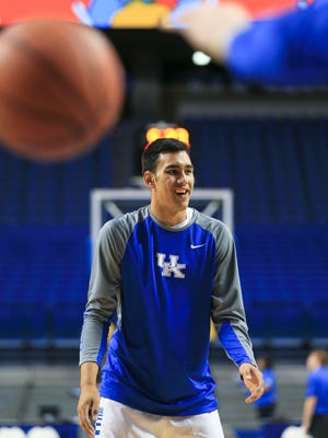 Tai Wynyard, 17, is from New Zealand and trained as an amateur for the New Zealand Breakers professional team before coming to Kentucky. His father Jason is a world champion in the sport of woodchopping.