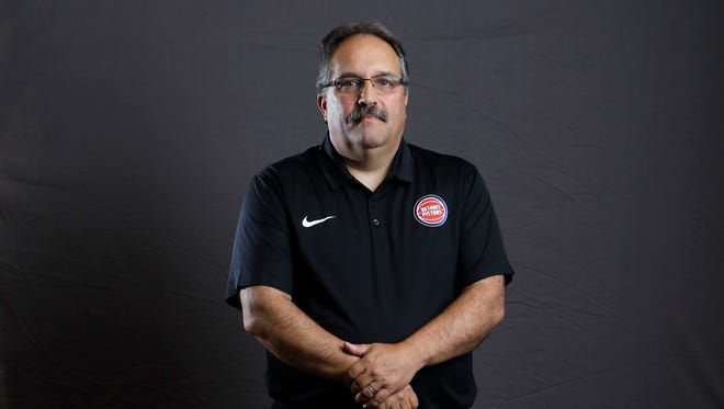 Pistons coach Stan Van Gundy poses during media day Sept. 25, 2017 at the Palace in Auburn Hills.