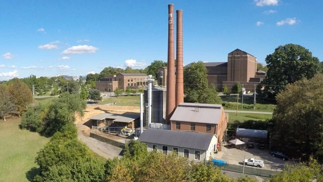 The steam plant at Maryville College has used wood chips to heat buildings on campus since 1982.
