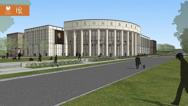 A rendering of the planned Tennessee State Museum in Nashville, which is scheduled to break ground in spring 2016.