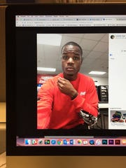 Lavonte Lloyd is shown in this photo of a social media post on a computer screen.