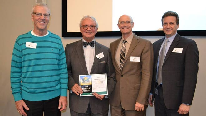 Grinnell Mutual Reinsurance Company was named business of the year at the 2016 Grinnell Chamber of Commerce awards ceremony.