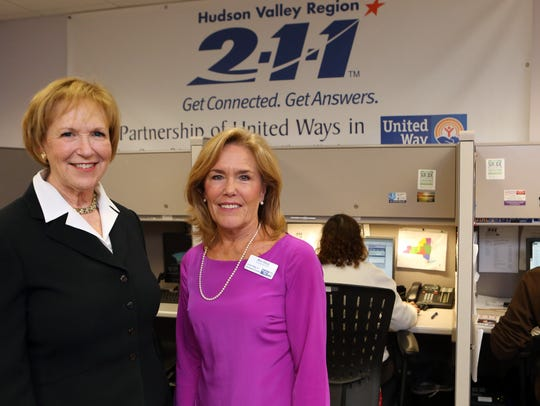 Alana Sweeny, left, CEO Westchester/Putnam United Way,