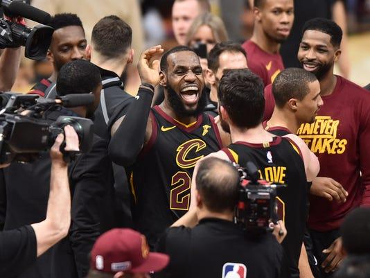 NBA  Playoffs-Toronto Raptors at Cleveland Cavaliers. Cleveland Cavaliers  forward LeBron James ... 942248ac1
