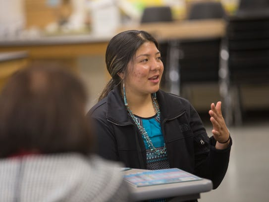 Navajo Prep student Kyra Capitan talks about her experiences helping students at a school in the Philippines.
