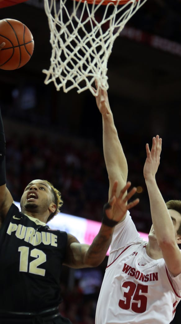 Feb 15, 2018; Madison, WI, USA; Purdue Boilermakers