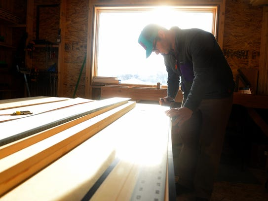 Ben Sidor hand makes skis for the Coop ski brand at