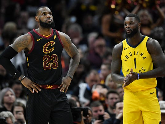 LeBron James' first-round streak ends as Pacers rout Cavs in Game 1