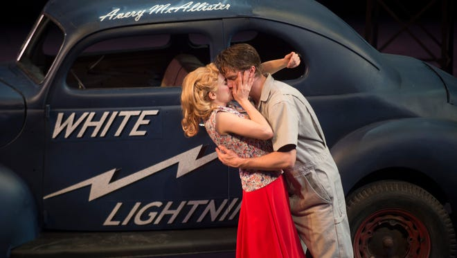 Becca Ballenger and Matthew Goodrich will perform in the world premiere of ÒWhite Lightning,Ó a tale of moonshine and old school stock car racing, on Thursday at 7:30 p.m. at ASF. It will through March 13, then return for an additional run from April 28 through May 7.