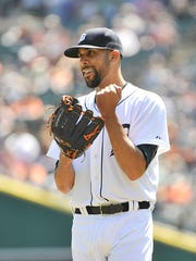 David Price strikes out Gordon Beckham in the fifth inning.