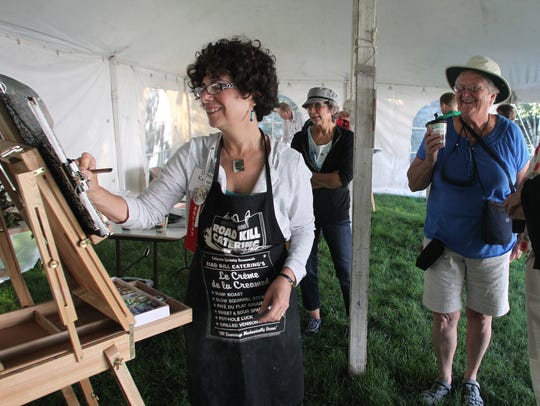 In this file photo, Artist Debby Kaspari of Norman,