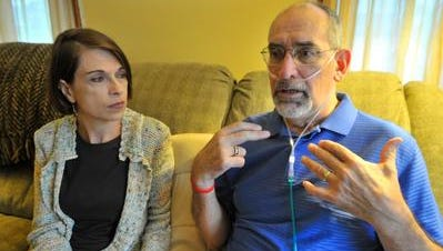 Bob Brooks, right, and his wife Ann, both of Wausau, spoke in August 2014 about the ALS ice bucket challenge.