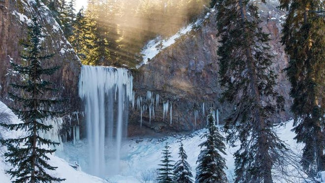 Jordan Hackworth's photo of Tamanawas Falls, located on Mount Hood, was named the best picture of the 2012-13 winter season in the Statesman Journal's Winter Waterfall Hunting photography contest. The picture was taken Jan. 12, 2013.