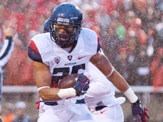 Arizona Wildcats safety Jourdon Grandon (26) reacts