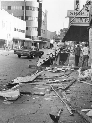 Hurricane Celia hit Corpus Christi on Aug. 3, 1970.