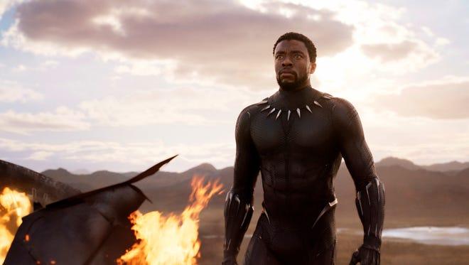Chadwick Boseman is the titular superhero in 'Black Panther.'