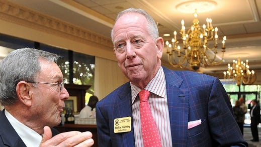 Former Ole Miss and New Orleans Saints quarterback Archie Manning leans toward New England for Sunday's game.