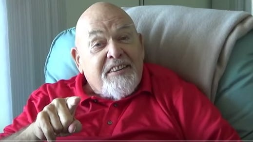 """George """"The Animal"""" Steele talks about growing up in the Detroit area in the YouTube video."""